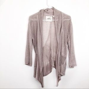 Anthropologie Angels of the North Open Front Cardi